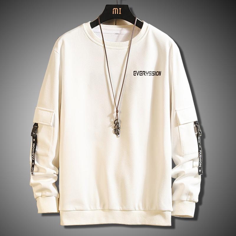 Frühling und Herbst Männer Sweatshirt Harajuku 2020 New High Street Männer Hoodie Mode Street O-Ausschnitt Tops Men Casual Sweatshirts T200828