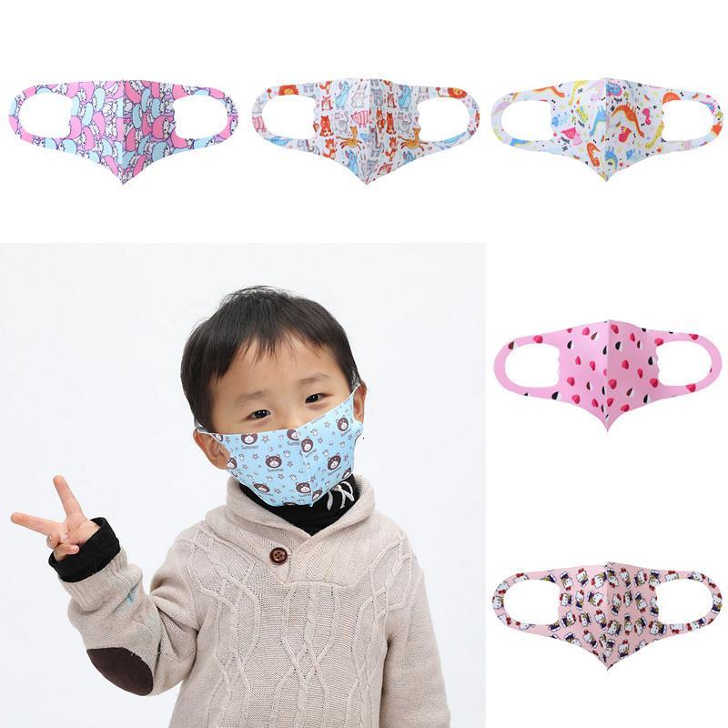 Maschere di animali del fumetto della polvere del fronte hanno stampato lavabile Bocca riutilizzabile Maschera di protezione bambini Moda Shield