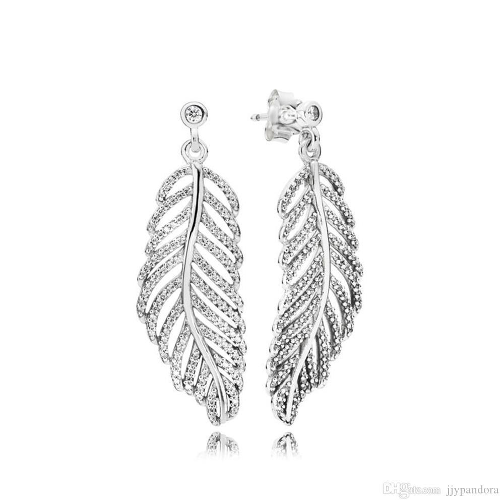 FAHMI 100%925 sterling silver 290584CZ Light as a Feather Earrings Hoops original ladies wedding fashion jewelry free shipping