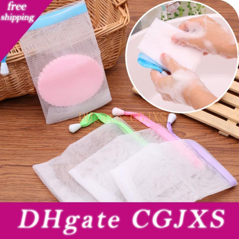 Мыло Mesh сумки Mesh Чистая Висячие Ванна для чистки перчатки для вспенивания чистки ванны мыло Net