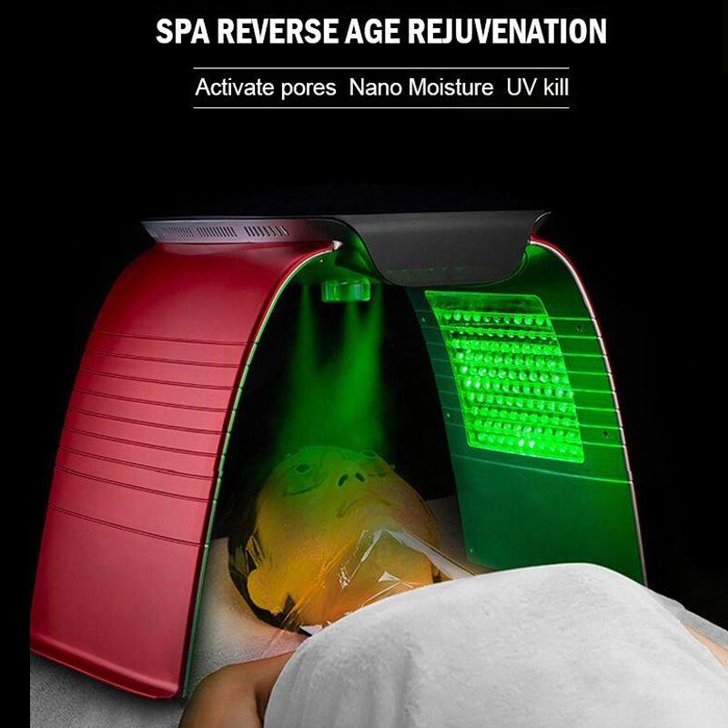 المحمولة PDT أدى ضوء العلاج الجلد تجديد الصيغة الضوئية المعالجة مصباح 7 ألوان الفوتون الوجه التجميل صالون آلة السبا