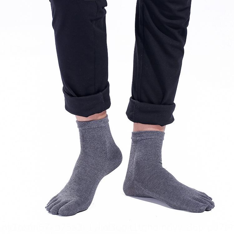 2revF Fünf-Finger-Männer feste Deodorant schweißabsorbierend zur Mitte der Wade Baumwolle Herbst und Winter Medium Medium Socken Baumwolle Farbe Ferse toe