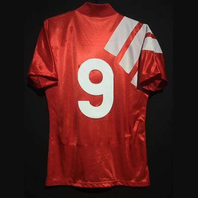 Retro Rush Dalglish Barnes McManaman Redknapp Johnston Mölby Jerseys Jerseys Vintage Candy Camiseta Kit de futebol clássico