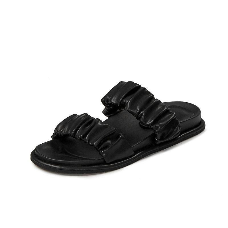 New Brand Slipper per Pelle di Mucca estate delle donne Fashion Low slittamento tallone su diapositive Summer Dress Outdoor Shoes