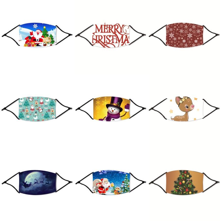Cartoon 3D Face Mask Weihnachten für Kinder Mund Er Anti-Staub-Mund-Maske Weihnachten Staubdichtes Waschbar Wiederverwendbare Schwamm Gesicht Weihnachten Masken # 220