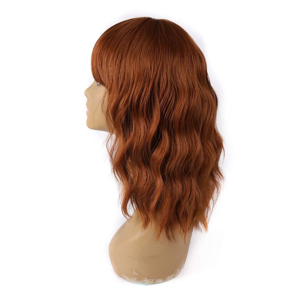 Élégant Off perruque noire avec frange courte perruque Bob pour les femmes de Charme naturel Wavy Perruques