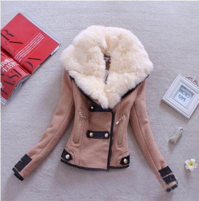 62Jga caliente 2020 otoño e invierno nuevo de la manera chaqueta del collar de la piel del cordero chaqueta de corte ajustado