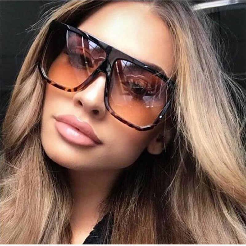gafas de sol cuadradas atractivas para las mujeres, marca de moda de las gafas de gran tamaño, negro y marrón gafas de sol de las mujeres, los hombres y las mujeres de las gafas