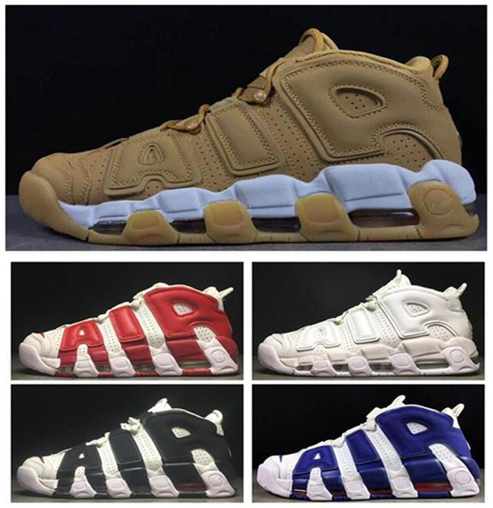 Dernier plus UPTEMPOS SUPTEMPOS HOMME BASKETBALL chaussures PRM Premium Beat Gold S Métallique Tri-Couleurs 3M Pippen Sneakers 36-47