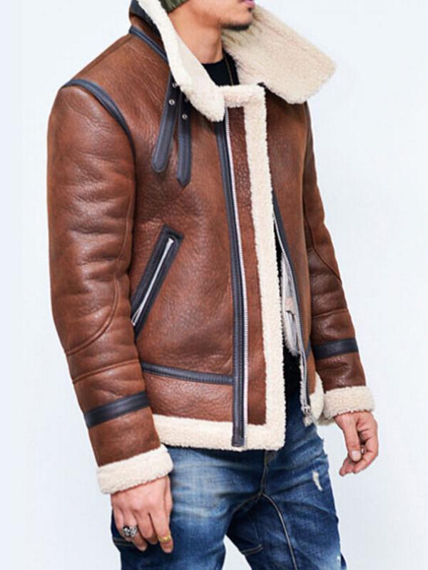 2020 Горячая Мотоцикл Кожа PU куртки зима Мужчины искусственного меха куртки пальто мужские пиджаки руно теплый кашемир хлопок ветровки пальто