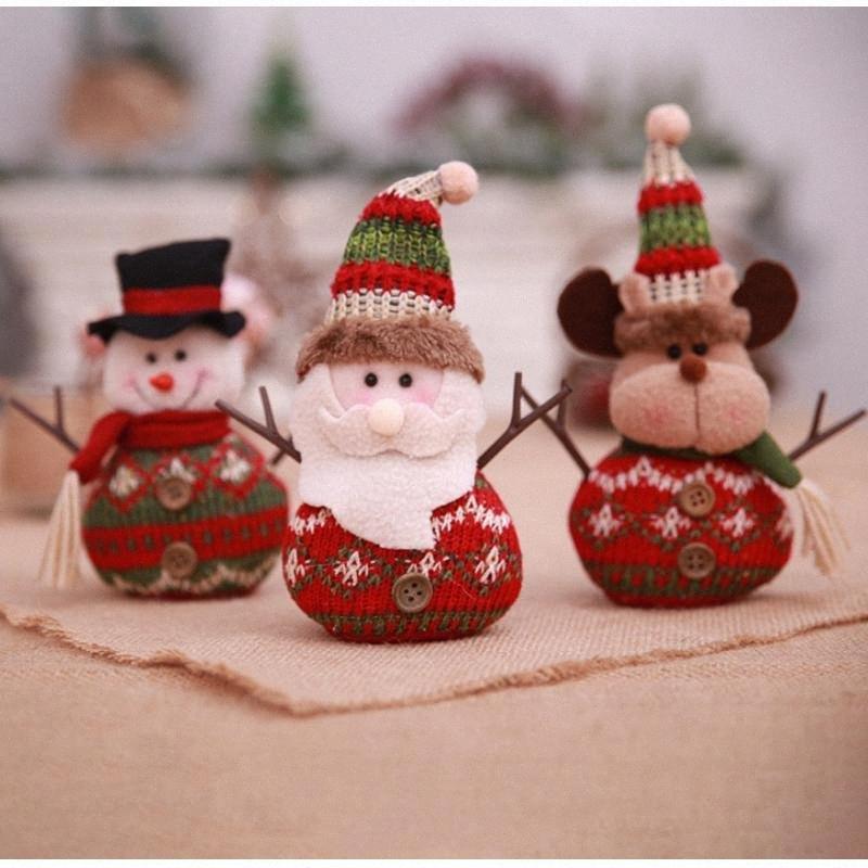 Weihnachtsplüsch-Puppe Anhänger hängende Verzierung Weihnachtshauptdekoration Heim Weihnachtsdekoration KOFL #