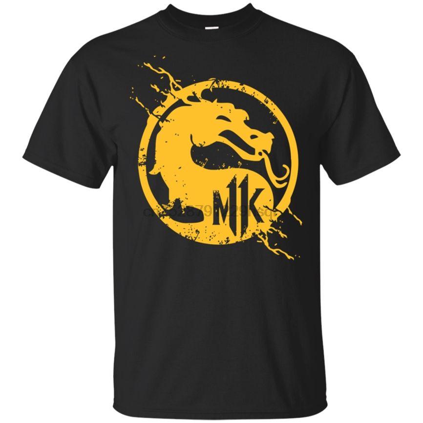 Mortal Kombat T Shirt - T-shirt preto Luta Legendary Scorpion Tee M-3XL solto Plus Size Camiseta
