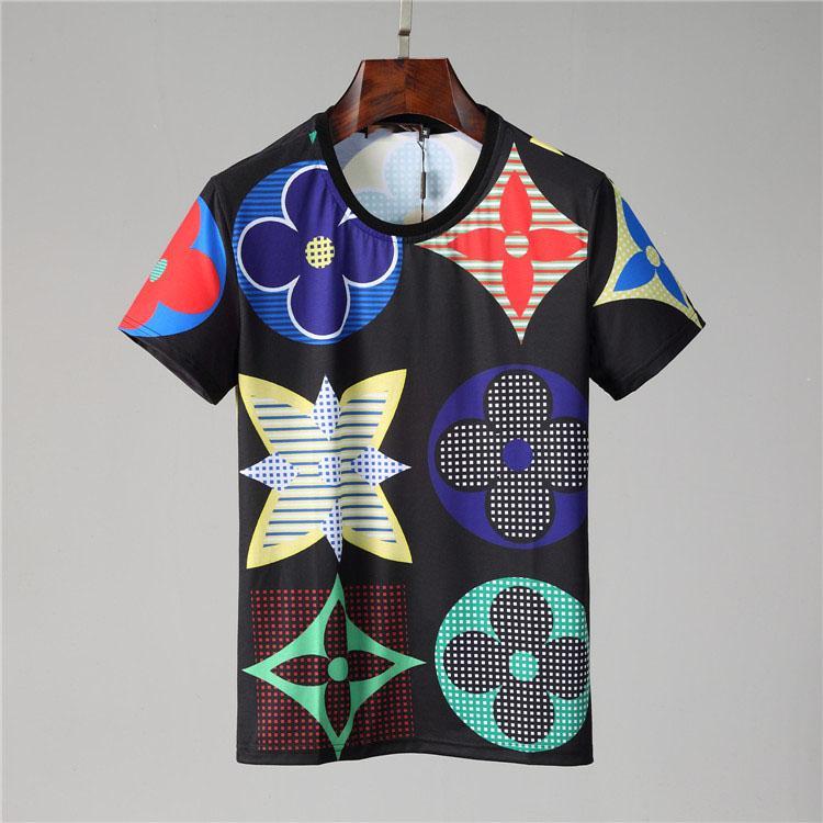 Homens Designers T Camisas Moda Verão New T camiseta Casual respirável manga curta Tees Coração Imprimir engraçado Top Tees M-3XL