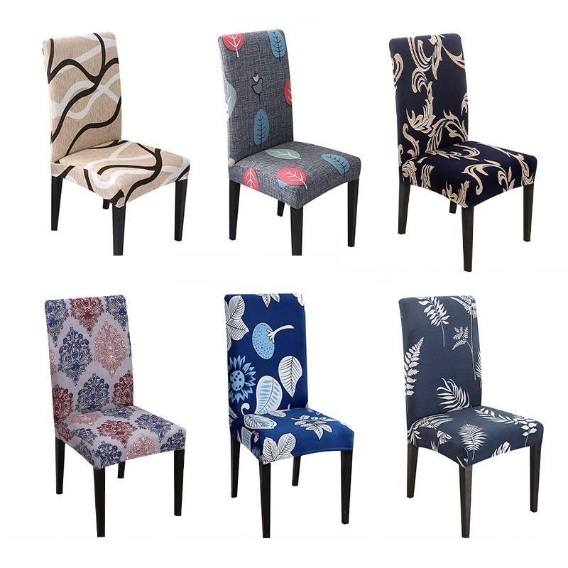 Chair Cover Blue Chair Covers Dining Room Leaves Covers For Chairs With Backrest CH37007
