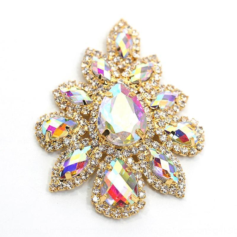 la moda ramillete de diamantes de imitación incrustaciones suéter accesorios de bricolaje Rhinestone de la aleación de bricolaje accesorios de vestir hechas a mano broche v78G4