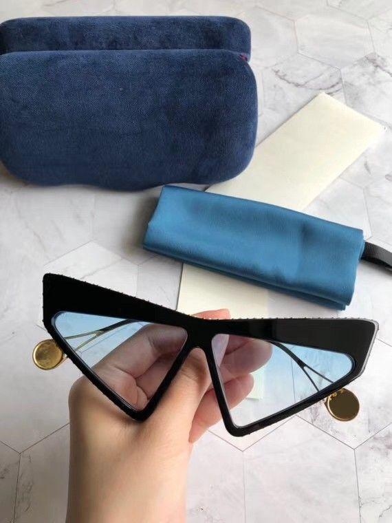Dernières vente soleil mode populaire 0430 hommes de les hommes des femmes des lunettes de soleil Lunettes de soleil de qualité supérieure lunettes lentille UV400 avec la boîte