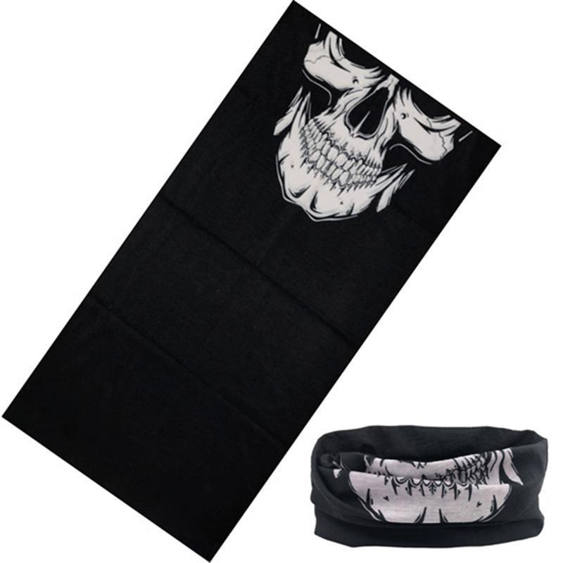 cgjxs Skull Anello Magico Sciarpa al collo fascia multifunzionale Bandana faccia senza saldatura di tubo Unisex Uomo Donna Unisex Sciarpe