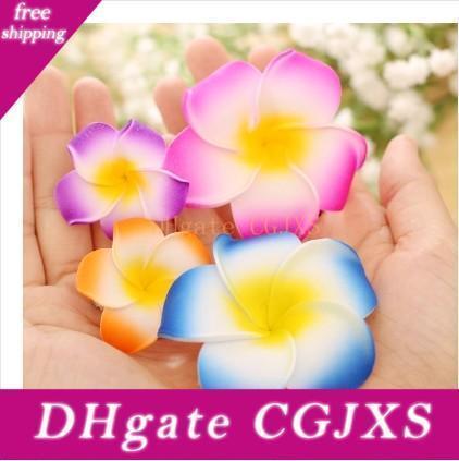 Free Shipping !!Hawaiian Plumeria Foam Flowers Hair Clips Barrettes Accessories Fashion Hair Pins For Women Girls