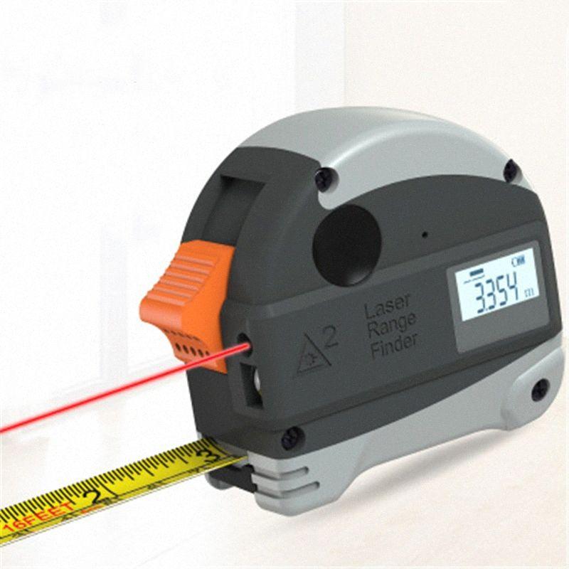 Digital Multi-função Pro Medida de fita Medidor de distância ferramenta de medição Range Finder rolo Modo Cord calibre Ferramenta Lgnf #