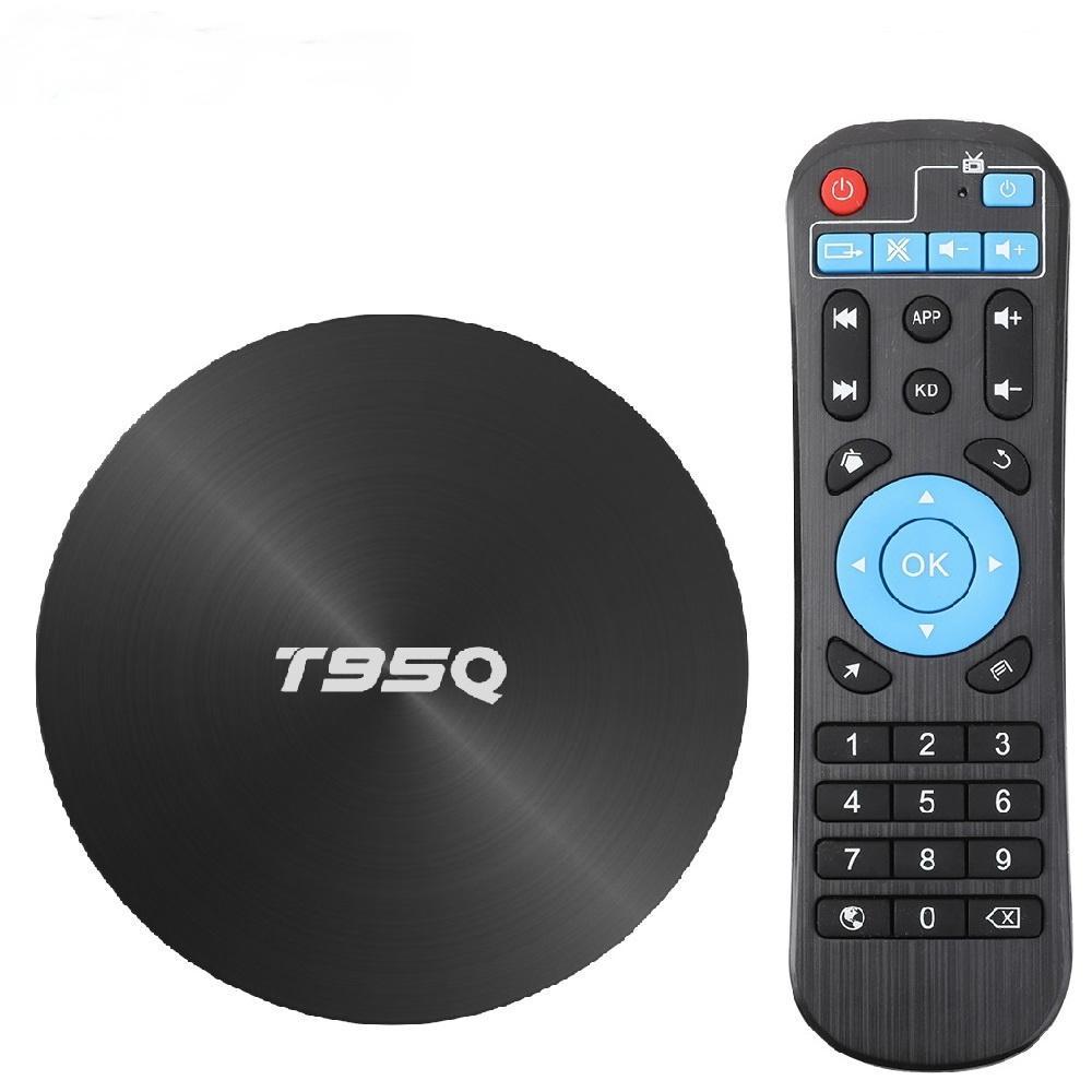 T95Q TV BOX Android 9.0 4GB 32GB 64GB Smart TV Box Amlogic S905X3 Quad Core 2.4G5GHz Wi-Fi BT 100М 4K Media Player телеприставку