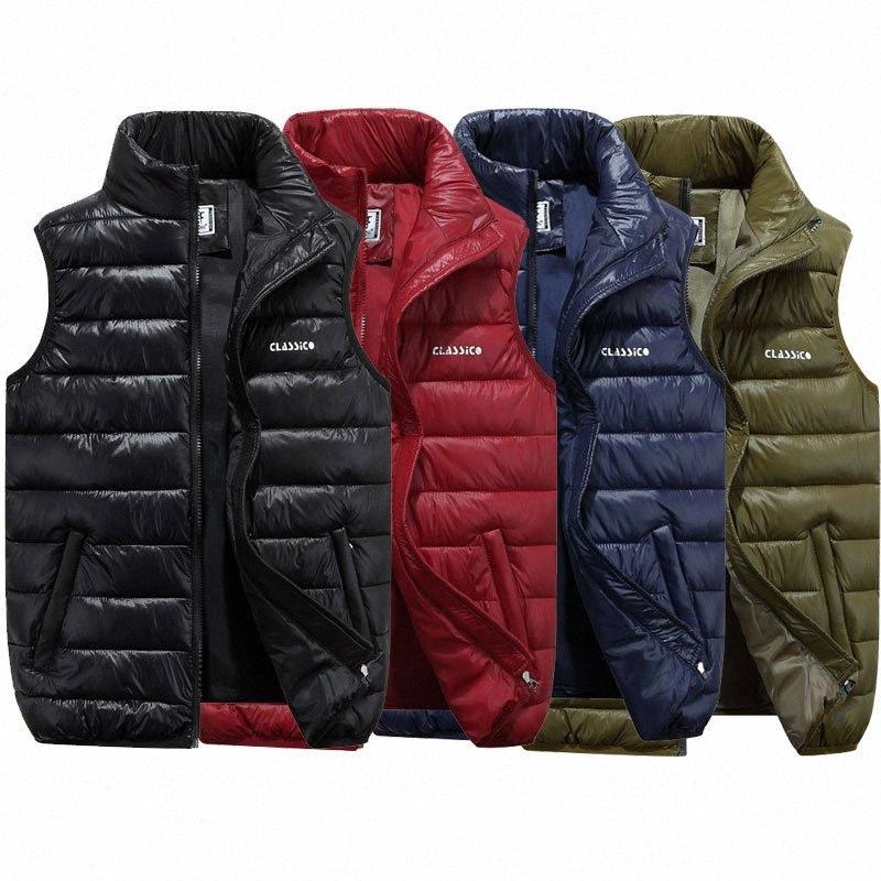 Thefound 2019 Inverno Nova Mens de Down acolchoado Vest Colete Térmico Quente mangas acolchoado Jacket Brasão QE4U #