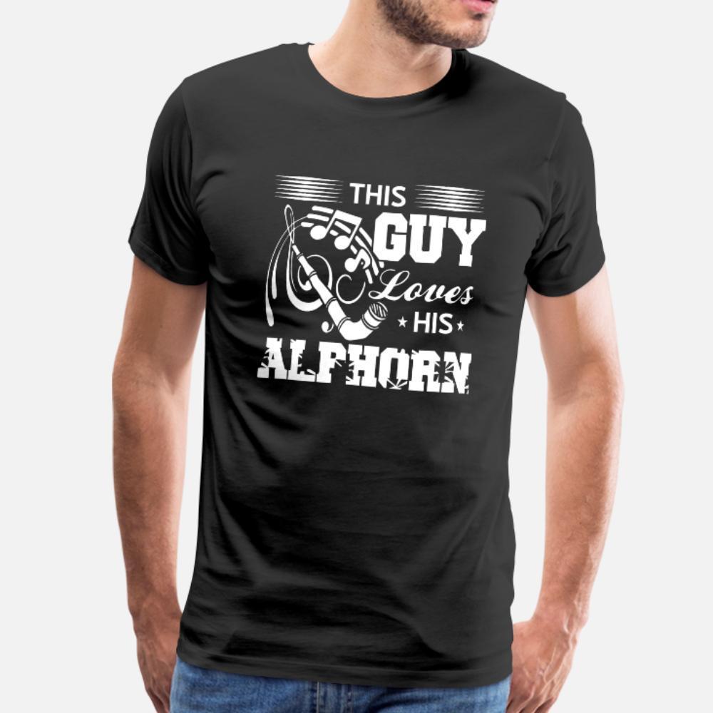 Alphorn camiseta homens algodão tamanho personalizado camisa legal S-3xl Vintage Famoso respirável Primavera Outono 100%