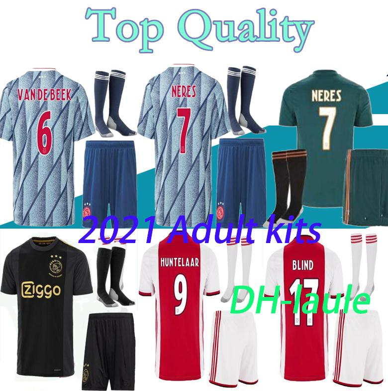 19 20 21 AJAX FC camiseta de fútbol DE JONG TADIC DE Ligt ZIYECH van Beek neres Adultos y niños de Tailandia 2020 camiseta de fútbol 2021 50 años