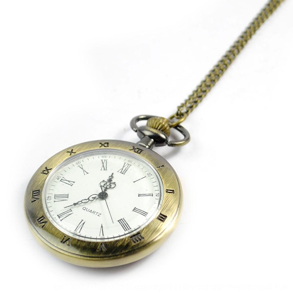 Большой одной оболочки Роман ностальгический стиль модно Bronze карманные часы карманные часы 8041