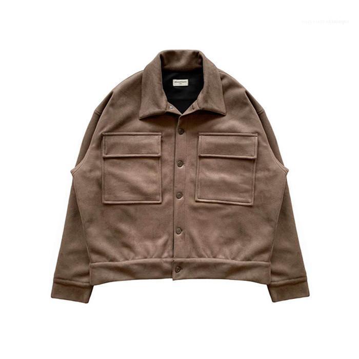 Stil Homme Giyim Arnodefrance Hip Hop Dış Giyim Gündelik Giyim Erkek Sonbahar Tasarımcı ceketler Yaka Yaka Uzun Kollu Moda