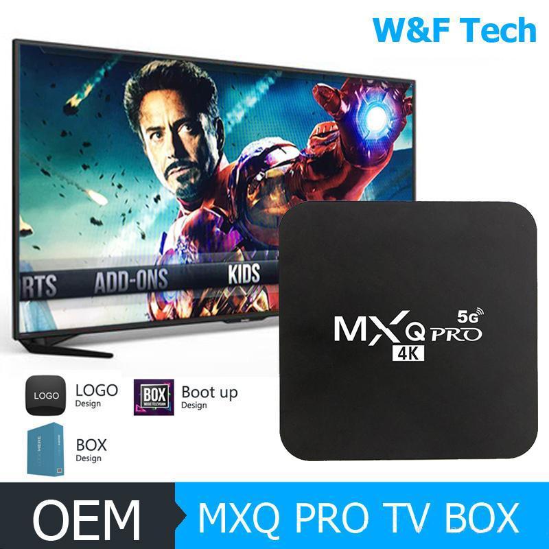 حار MX2 MXQ PRO RK3229 1GB 8GB / 2GB 16GB رباعية النواة الروبوت 9.0 TV BOX مع 2.4G 5G واي فاي 4K ميديا بلاير