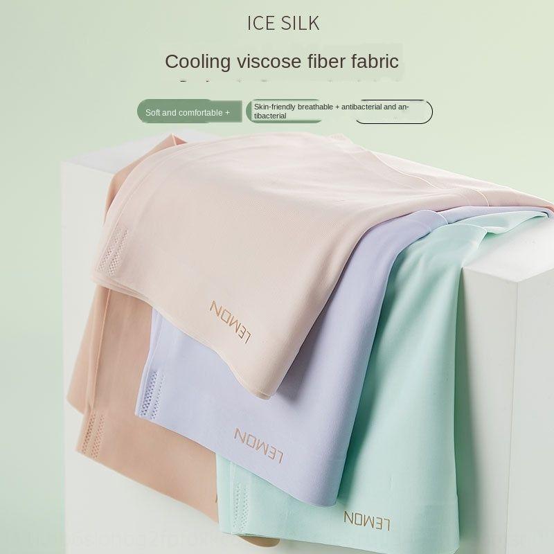 Lemon Ice mutande mutande di seta respirabile senza giunte mutandine metà di-vita delle donne nude femminili slip estive 5 scatole 9GUuR