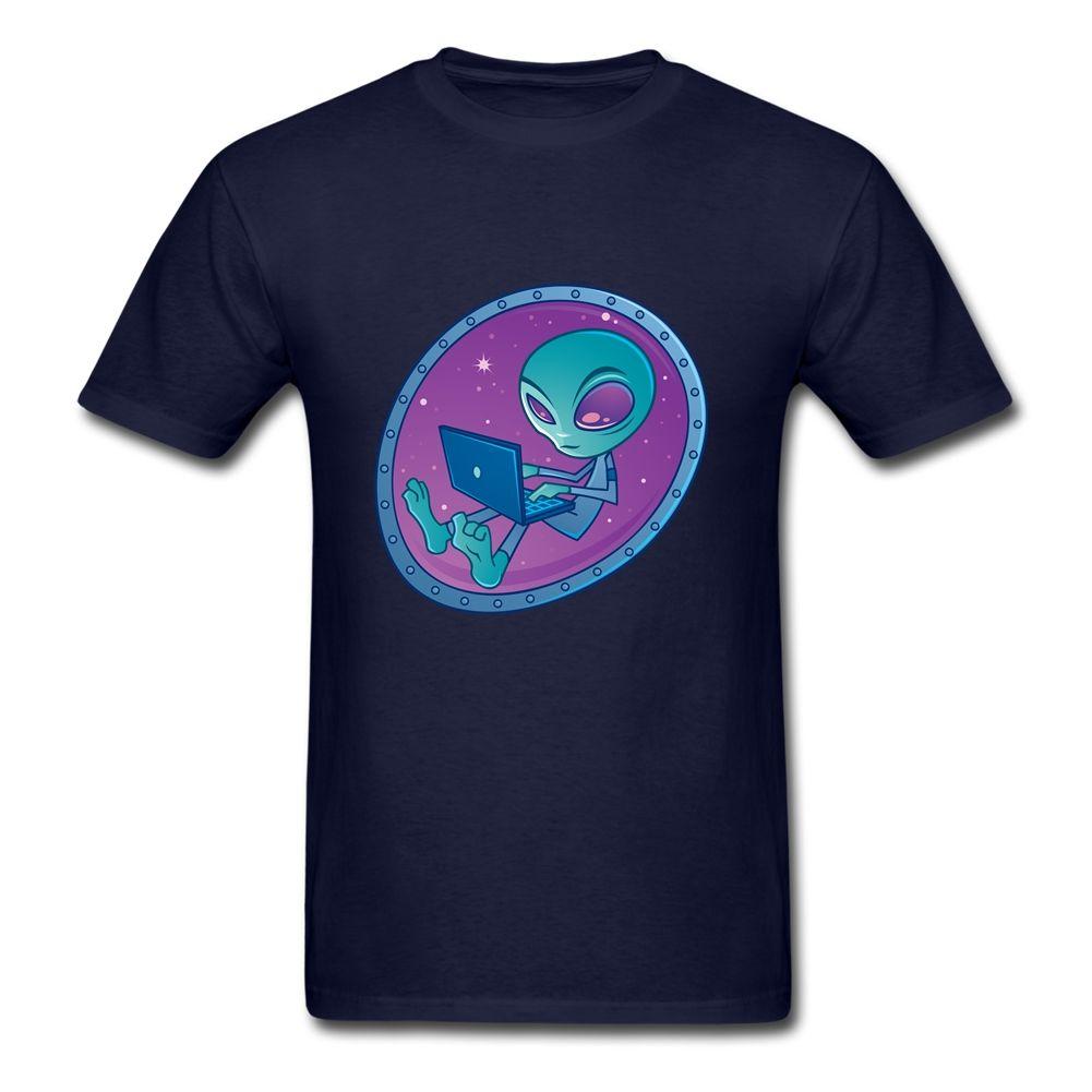 Camisetas do estrangeiro trabalhador compulsivo Camisa homens bonitos manga curta Pure Cotton em torno do pescoço camiseta Para Adolescente