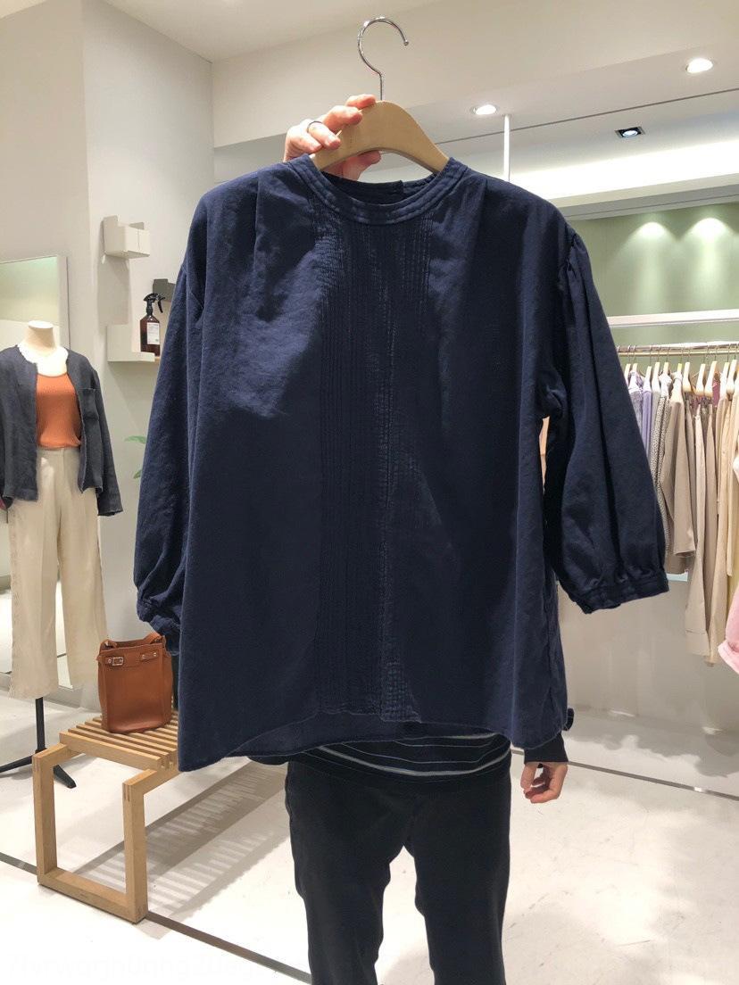 desgaste 2020 camisa de la reducción de la edad de estilo de la moda coreana patrón vertical primavera / verano del color sólido de gNP9x KiD2C Corea Dongdaemun las mujeres redonda Nueva