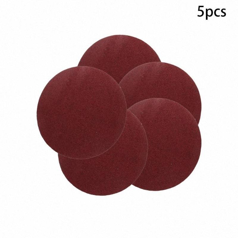 Nueva Grit 40/60/80/100 disco adhesivo al respaldo del papel de lija de 8 pulgadas de hoja Sin agujero redondo Almina lijado herramienta de pulido 5/10 / 15pcs 5ovo #