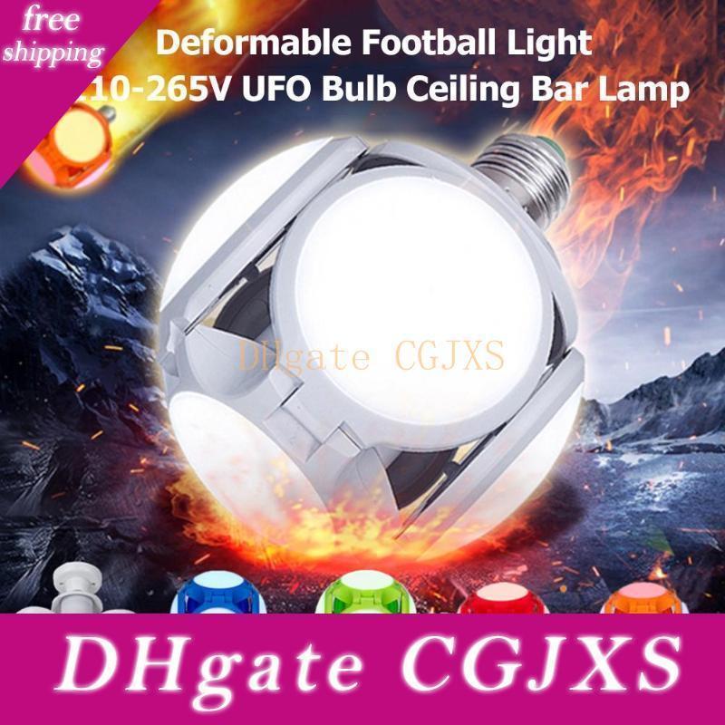 E27 führte Folding Birnen AC85 -265V 30w 5 Blatt 120leds Fußball Ufo-Birne 360 Grad Hohe Helligkeit Beleuchtung für Bar Halle Deckenleuchten