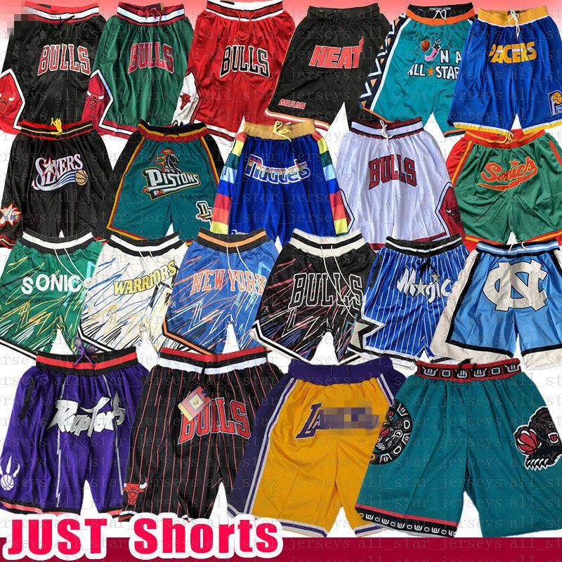 Chicago Bulls Los Angeles Basketball Shorts Gerade Memphis DON Toronto Raptors Grizzlies Orlando Supersonic 76ers Magie Kolben-Wärme Pacers 23