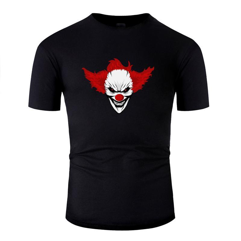 Streetwear Clown mauvais Halloween tueur Clowns T-shirt pour les hommes 2019 Kawaii T-shirt Nouvelle arrivée Harajuku col rond