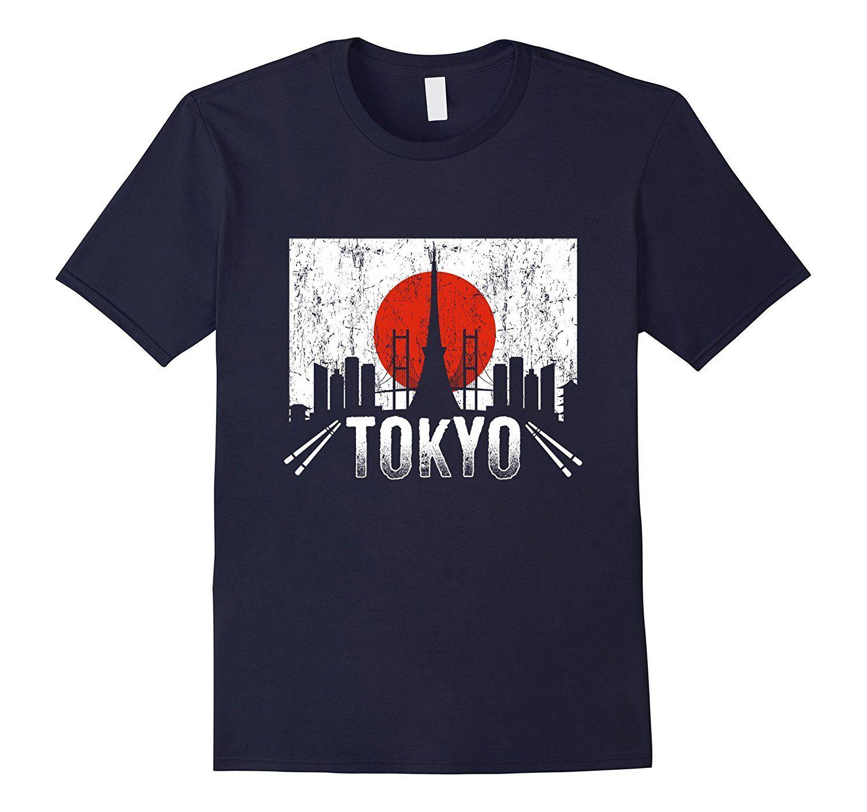 2019 New Cool Summer T-shirt Amour Tokyo Japon Skyline Sushi Voyage vacances T-shirt drôle T-shirt