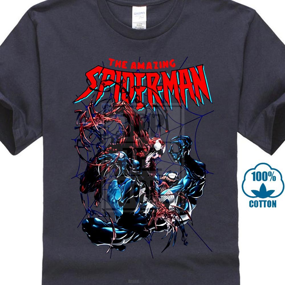 Spider-Man Carnage Vs Venom Comics T-shirt Vêtements pour hommes Taille S à 4XL 023953