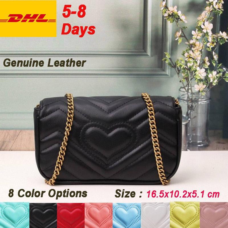 Super Mini DHL Fast Shipping Nano women flap real genuine leather bag Nude Marmont style fashion purses crossbody shoulder bag designer bags