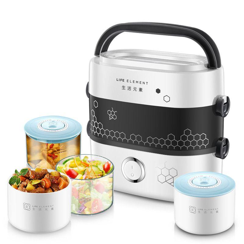 Électrique Boîte à lunch chaud Petit cuiseur à riz portable Mini cuisine appareil chaud Plat de cuisson Cuisinière thermique déjeuner chaud