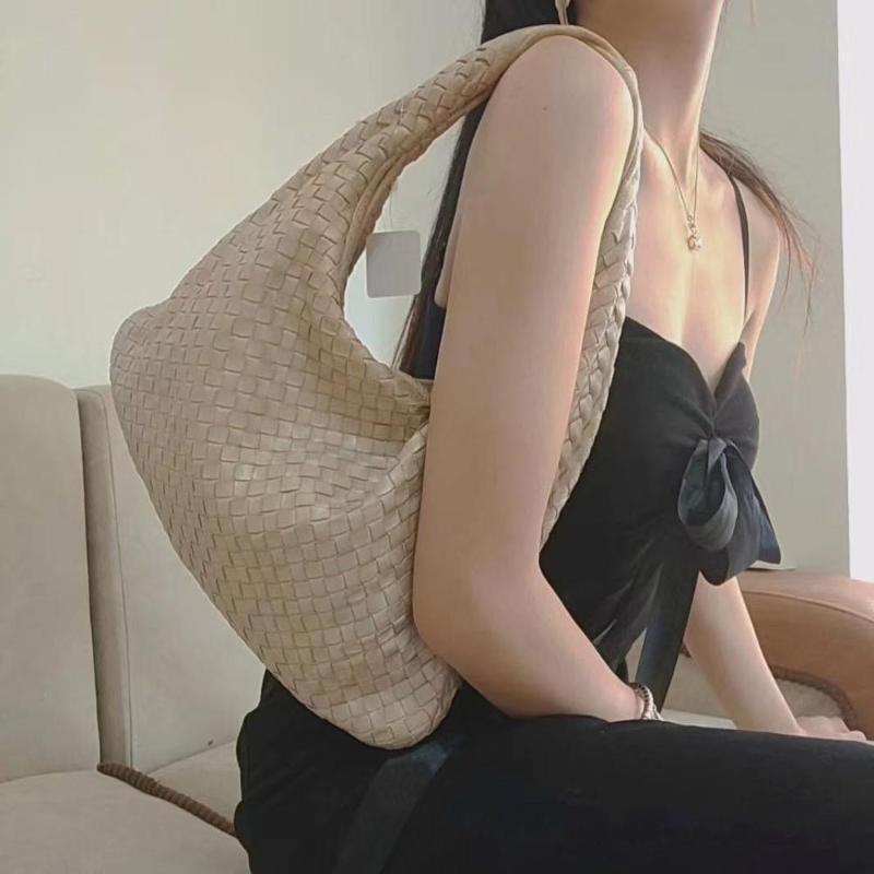 Büyük Hakiki Çanta El Lüks Kadın Marka Tasarım Kapasitesi Yeni Omuz Deri Bayanlar Dokuma Moda 2021 Çanta VAQIN