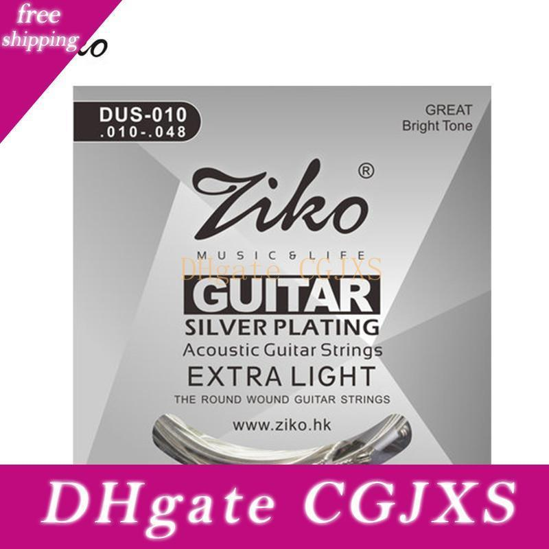 Acoustic Guitar Strings Ziko 010 -048 Dus -010 Silver Plating Guitar Parts
