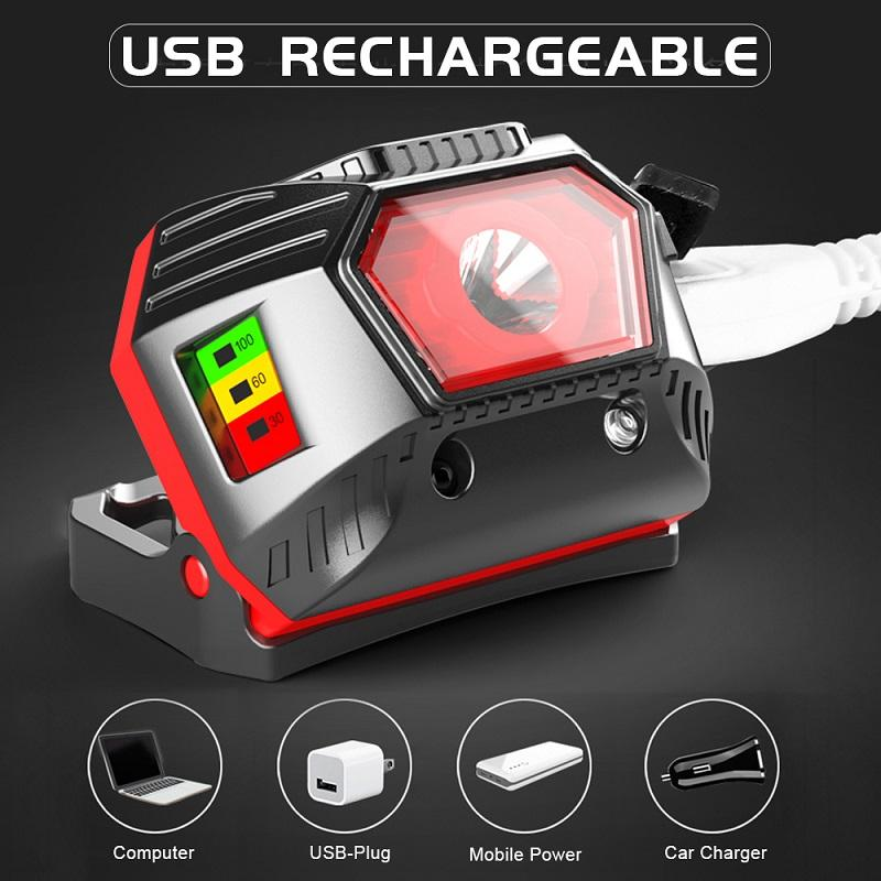 Most powerful Headlamp LED Headlight USB Rechargeable Head Light Lamp Fishing Camping hunting