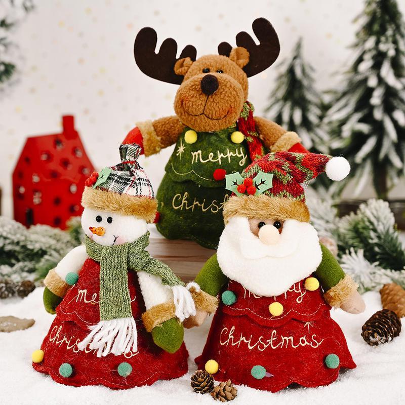 Armazenamento dos doces caçoa o presente criativo de Natal sacos do punho do Papai Noel dos desenhos animados Xmas Decor Xmas Bag Crianças Drawstring Bags