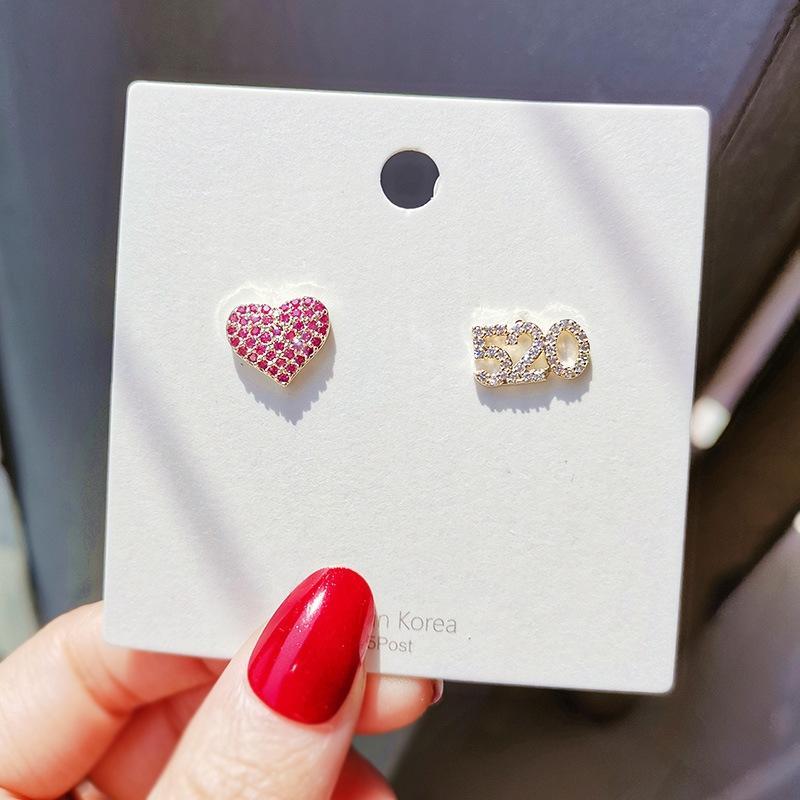 amore semplice in stile e piccole carino moda 520 Accessori orecchini e orecchini accessori regalo fidanzata digitale