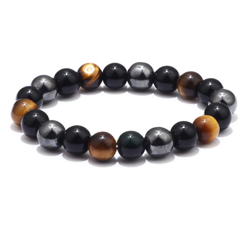 2020 Tiger Eye Obsidian Yoga 10MM Energia Buddha contas Pulseiras para mulheres homens frescos étnico Vintage coloridos Pulseira Novo