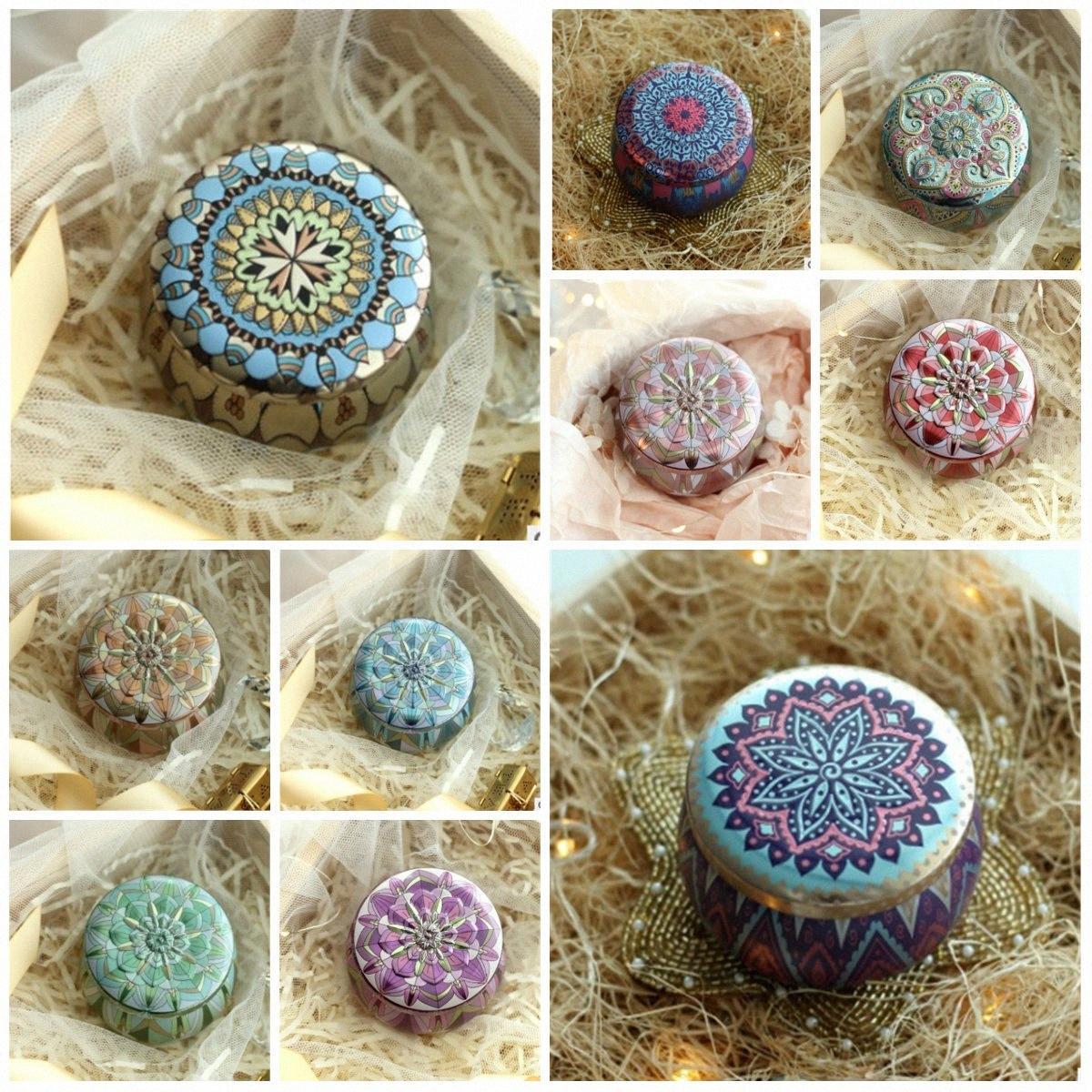 Hot Scented Tea Box Candle Pot Small Tea Golden European Creative Wedding Candy Box Tin Box Wedding DHA3 k5W1#