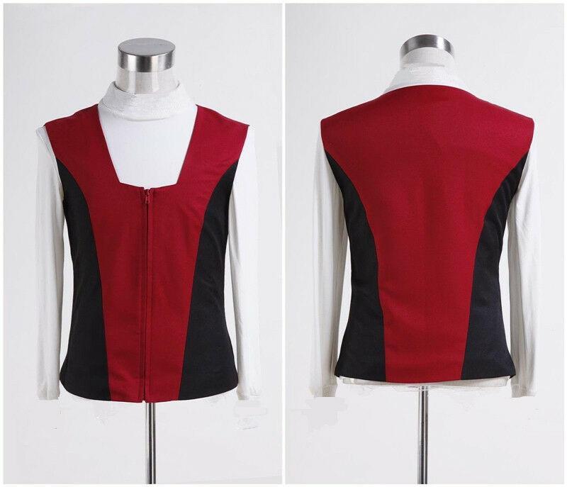 NUOVO Star Trek Kirk a coste T-shirt Vest Set Cosplay su ordine