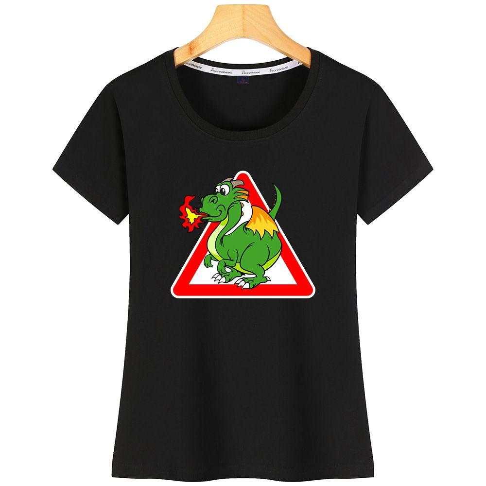 Drôle de dragon femmes T-shirt Lumière du soleil AuthenticDesigner coton